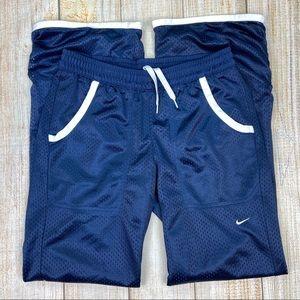 NIKE Blue Mesh Warm Up Pants, Ankle Zip, Athletic